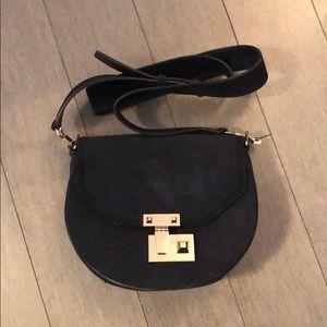 Rebecca minkoff blue suede saddle bag